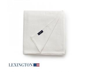 Lexington Bettüberwurf Structured Cotton in weiß