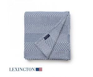 Lexington Bettüberwurf Structured Cotton in blau