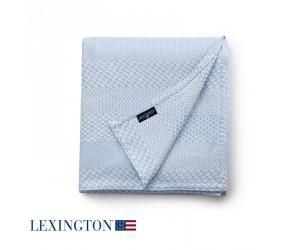 Lexington Bettüberwurf Structured Cotton in hellblau