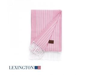 Lexington Decke Stripe Cotton in rosa