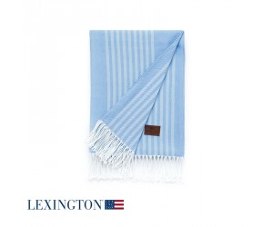 Lexington Decke Stripe Cotton in blau