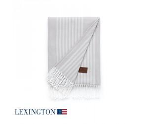 Lexington Decke Stripe Cotton in grau