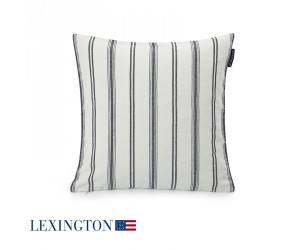 Lexington Dekokissen Classic Striped Sham in weiß / blau (50 x 50 cm)