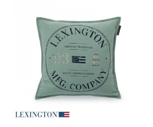 Lexington Dekokissen Classic Graphic Sham in grün
