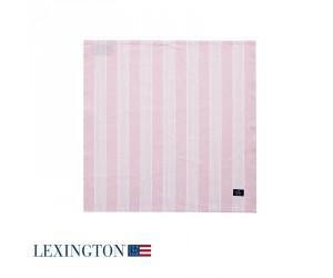 Lexington Serviette Striped in rosa/ weiß