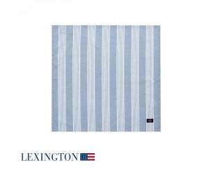 Lexington Serviette Striped in blau/ weiß