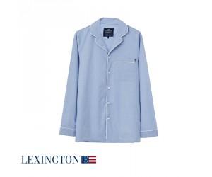 Lexington Nachthemd Pyjama Scott in hellblau