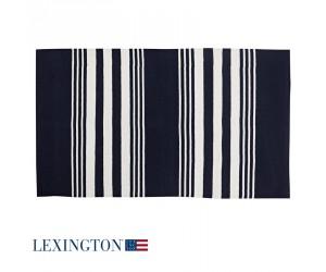 Lexington Teppich Striped Cotton in blau/weiß