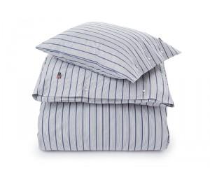 Lexington Bettwäsche Set Summer Striped Poplin in weiß/blau