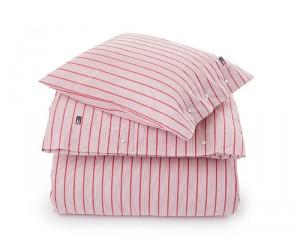 Lexington Bettwäsche Set Summer Striped Poplin in weiß/rot