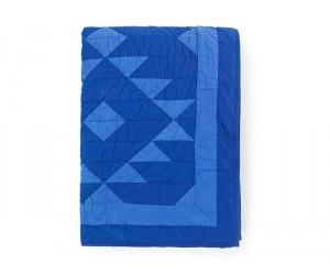 Lexington Summer Bettüberwurf Quilt Decke blau
