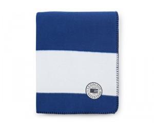 Lexington Summer Fleece Decke weiß / blau in 130 x 170 cm