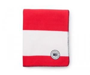 Lexington Summer Fleece Decke weiß / rot in 130 x 170 cm