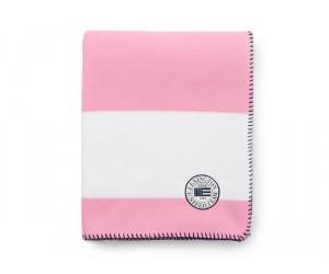Lexington Summer Fleece Decke weiß / rosa in 130 x 170 cm