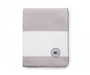 Lexington Summer Fleece Decke weiß / grau in 130 x 170 cm