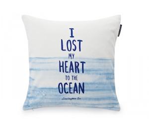 Lexington Dekokissen Summer Ocean Sham blau/weiß