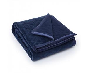 Lexington Bettüberwurf Quilt Velvet blau