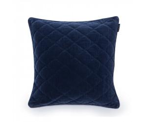 Lexington Dekokissen Quilt Velvet blau