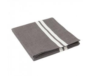 Lexington Tischdecke Striped in grau-weiß