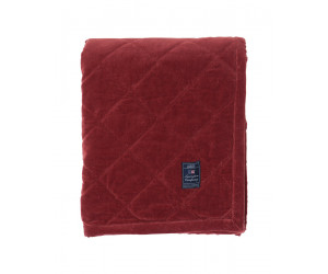 Lexington Plaid Quilt Velvet Bedspread rot (2 Größen)