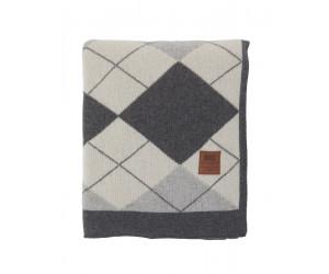 Lexington Plaid Holiday Knitted Throw grau / weiß (130 x 170 cm)