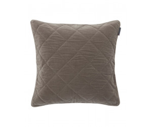 Lexington Dekokissen Velvet Quilt Sham creme (65 x 65cm)