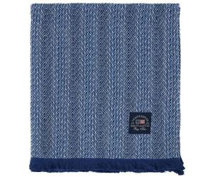 Lexington Decke Herringbone Cotton blau (130 x 170 cm)