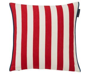 Lexington Dekokissenbezug  striped cotton rot (50 x 50 cm)