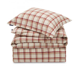 Lexington Bettwäsche Set Holiday Checked Cotton Flanell beige red