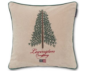 Lexington Dekokissen Holiday Christmas Tree  Cotton Velvet beige (50 x 50 cm)