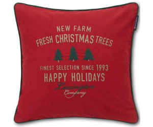Lexington Dekokissen Holiday Farm Christmas Tree  Cotton Twill rot (50 x 50 cm)