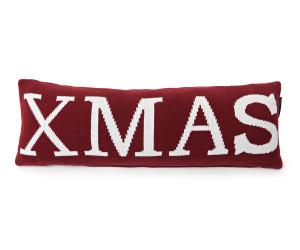 Lexington Dekokissen Holiday Xmas Knitted Cotton rot weiß (70 x 25 cm)