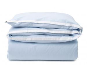 Lexington Bettwäsche contrast cotton chambray blue/white