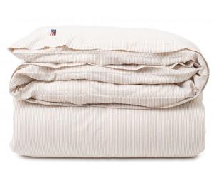 Lexington Bettwäsche Striped Cotton Seersucker beige/white