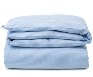 Lexington Bettwäsche Striped Tencel/Cotton blue/white