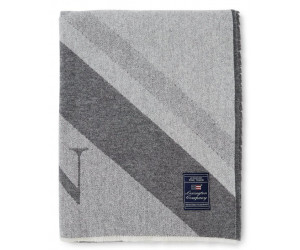 Lexington Decke Diagonal Striped Light Wool Mix grey