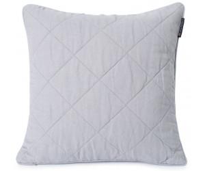 Lexington Dekokissen Quilted Linen/Viscose grey