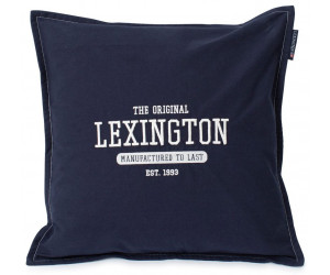Lexington Dekokissen Logo Cotton Canvas dark blue