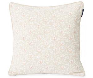 Lexington Dekokissen Printed Flower Cotton Canvas light beige/pink