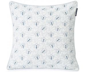 Lexington Dekokissen Printed Flower Cotton Canvas light gray/blue