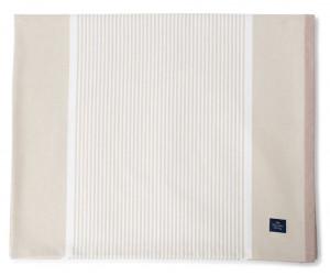 Lexington Tischdecke Striped Cotton Twill light beige/white 150 x 250 cm)