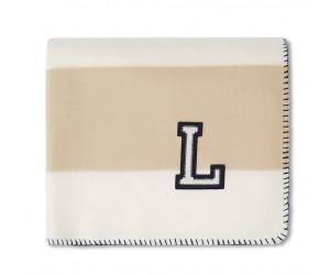 Lexington Block Striped Fleece Plaid beige/weiss 130x170