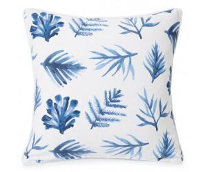 Lexington Dekokissen  Blue Printed Leaves Baumwolle Twill