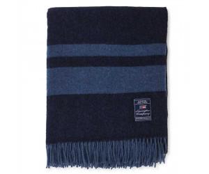 Lexington Decke Herringbone Recycled Wool blau, 130x170