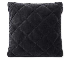 Lexington Dekokissenbezug Quilted Baumwolle Velvet grau, 50x50
