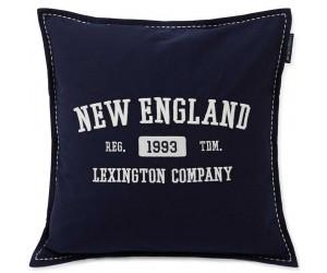 Lexington Dekokissenbezug Baumwolle Twill Logo Message blau, 50x50