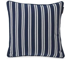 Lexington Dekokissenbezug Striped Baumwolle Twill blau/weiß, 50x50