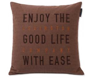 Lexington Dekokissenbezug Good Life Herringbone Baumwolle Flannel beige, 50x50