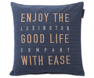 Lexington Dekokissenbezug Good Life Herringbone Baumwolle Flannel blau, 50x50