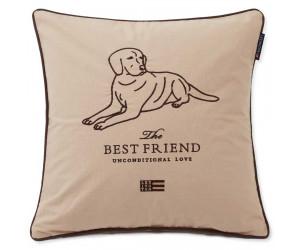 Lexington Dekokissenbezug Best Friend Baumwolle Canvas beige, 50x50